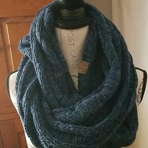 C.C Blue Blended Tones Infinity Scarf